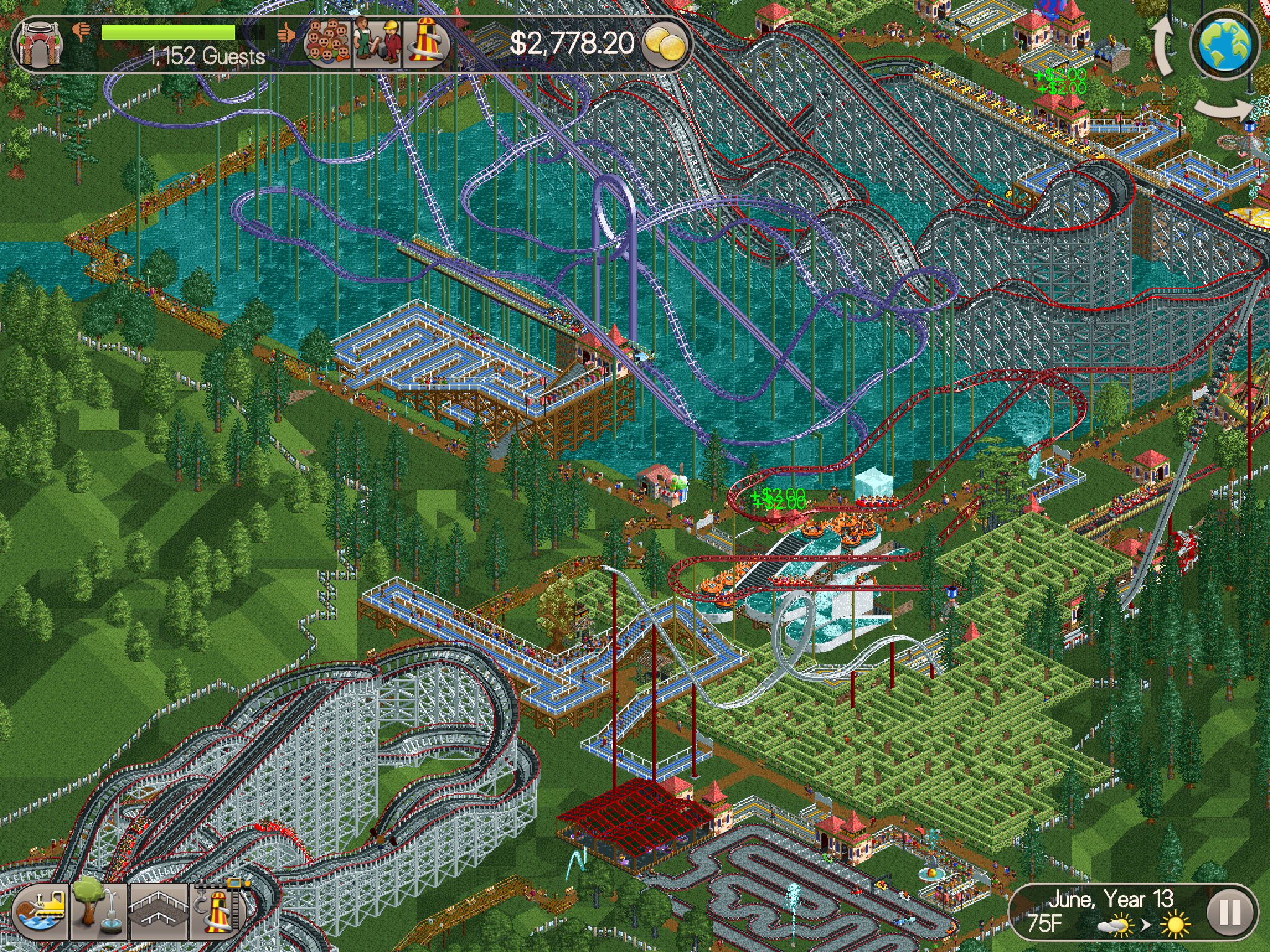 RollerCoaster Tycoon Classic for iOS: Nostalgia Goes Mobile - Leaf&Core